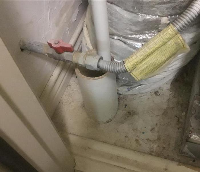 Water Heater leak caused water damage in Uptown Dallas