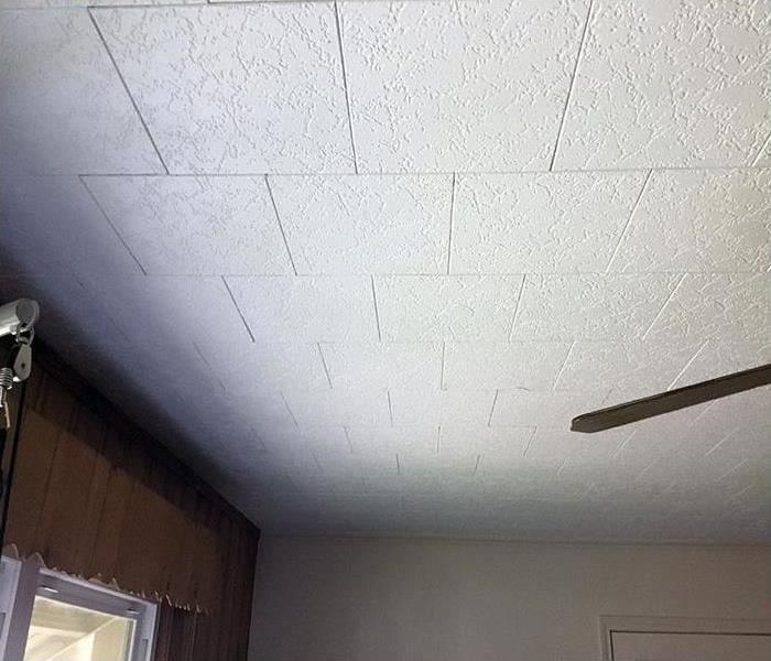 Water damage after restoration and drying in Dallas