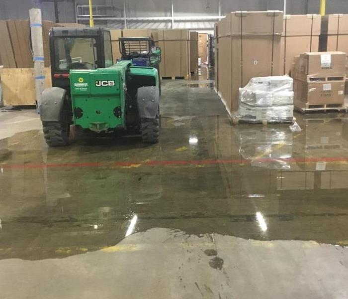 Flood Damage at a Commercial Property in Dallas Before